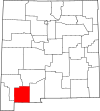 State map highlighting Luna County