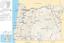 Karte von Oregon