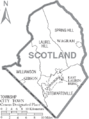 Map of Scotland County North Carolina With Municipal and Township Labels.PNG