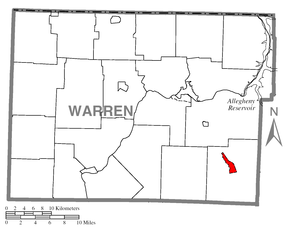 Map of Sheffield, Warren County, Pennsylvania Highlighted.png