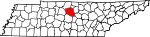 State map highlighting Wilson County