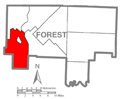 Map of Tionesta Township, Forest County, Pennsylvania Highlighted.png
