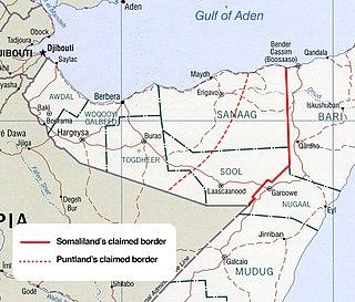 Puntland–Somaliland dispute Territorial dispute