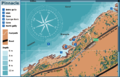 Map of the CT dive site Pinnacle.png