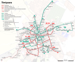 Map of the Timișoara tramway and trolleybus routes.png