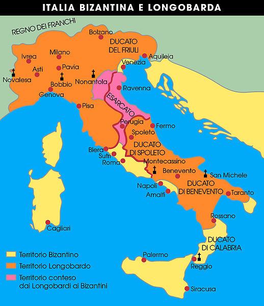 Cartina Dell Italia In Miniatura.File Mappa Italia Bizantina E Longobarda Jpg Wikipedia