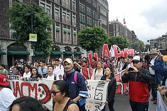 Tlatelolco massacre - Demonstration marking the Tlatelolco massacre, 2 October 2014