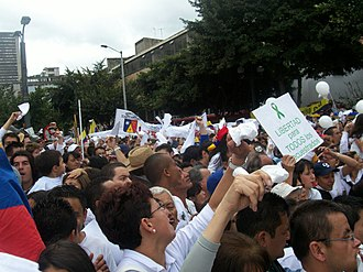 History of Colombia - Colombia's peace protests, 2007.