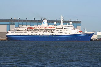 MS Marco Polo - Marco Polo departing Helsinki in 2008 during her service with Transocean Tours.