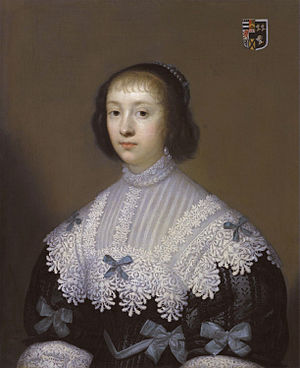 Edward Hungerford (Roundhead) - Margaret Holliday, 1633 portrait by Cornelis Jonson van Ceulen