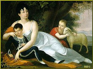 Archduchess Maria Leopoldine of Austria-Este - Maria Leopoldine as Countess von Arco, with her two surviving sons Aloys and Maximilian.