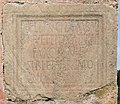 Maria Saal Zollfeld Prunnerkreuz Grabinschrift fuer Ehepaar Felix und Titiu und Sohn Vercaion 18102015 8152.jpg
