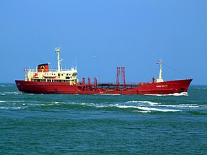 Maria Soltin p2 approaching Port of Rotterdam, Holland 03-Jun-2007.jpg