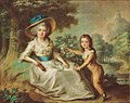 Marie Aurore of Saxony with her son Maurice Dupin de Francueil by a member of the French School (circa 1780).jpg