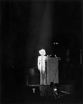 Death of Marilyn Monroe - Monroe performing at President John F. Kennedy's birthday celebration at Madison Square Garden in May 1962, less than three months before her death.
