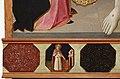 Mariotto di cristofano, cristo eucaristico tra la madonna e santa lucia, 1420-25 ca., predella 01 sant'agostino.jpg