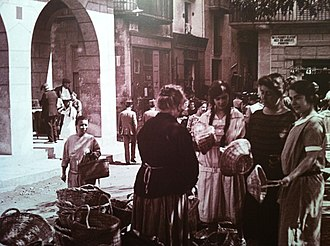 Sant Feliu de Guíxols - Women in the old market.