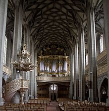 Marktkirche in Halle where Zachow and Handel performed as organists (Source: Wikimedia)