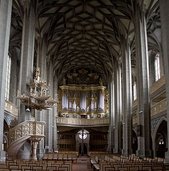 Marktkirche in Halle where Zachow and Handel performed as organists Marktkirche halle 1.jpg