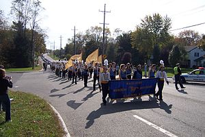 Marlboro High School - Marlboro High School Marching Band on Route 79 during Homecoming Parade 2005.
