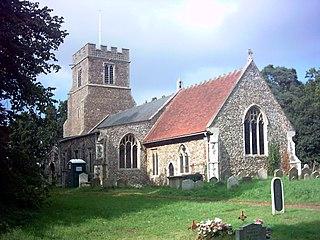 Marlesford village in the United Kingdom