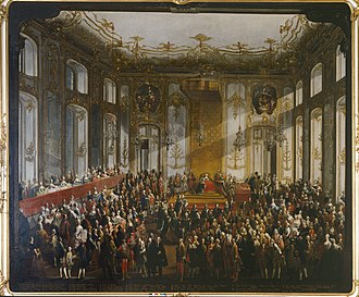 Austrian nobility - The Imperial Court of Maria Theresa in Hofburg, Vienna