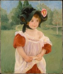 Spring: Margot Standing in a Garden (Fillette dans un jardin)