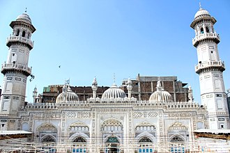Ali Mardan Khan - Bestowed by Ali Mardan Khan in 1670, the white-marble façade of the Mohabbat Khan Mosque is one of Peshawar's most iconic sights.