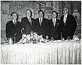 Massachusetts Governor John A. Volpe, Mayor John F. Collins, and three unidentified men (11191607695).jpg