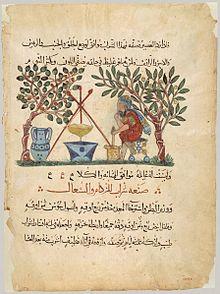 الحكمة مكتبة معهد للتّرجمة ومركزاً 220px-Materia_Medica_(Arabic_translation,_leaf).jpg