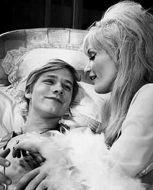 Matthew Cowles - Cowles and Jennifer West in the play Malcolm in 1966.