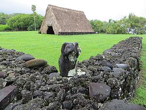 Kahanu Garden - Image: Maui Piilanihale canoehouse enclosure
