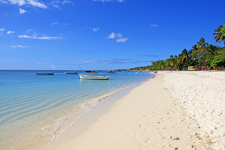 Tropical beach in Trou-aux-Biches, Mauritius Mauritius beach.png