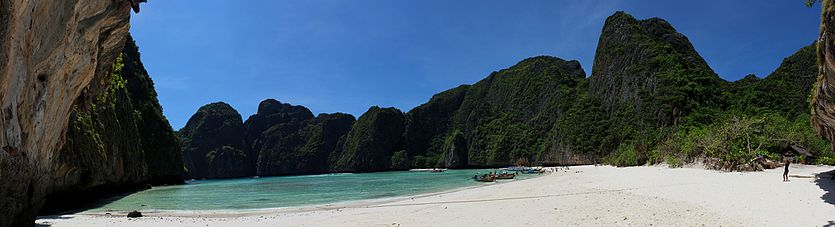 Panoramafoto Maya Bay, Ko Phi Phi Lee