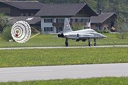 Meiringen Airbase Tiger Bremsschirm