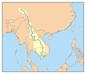 Description de l'image Mekong River watershed.png.