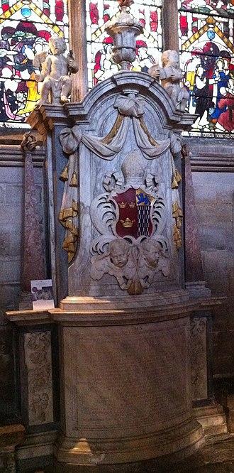 Simon Patrick - Memorial to Bishop Simon Patrick in Ely Cathedral