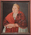 Merchant wife in red shawl by anonim (19 c., Tver gallery) FRAME.jpg