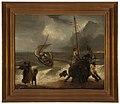 Mereltä palaavia kalastaja-aluksia, Painting by an Unknown Artist.jpg