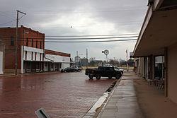 Street in Merkel, Texas