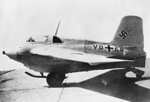 L'ottavo prototipo (V8) di Messerschmitt Me 163 B