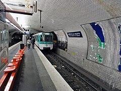 Porte de la villette metro w pary u wikipedia wolna encyklopedia - Metro porte de la villette ...