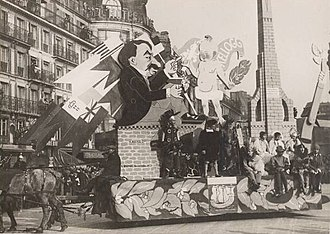 Kellogg–Briand Pact - Mockery of the Pact during the Paris Carnaval in 1929