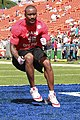 Miami Dolphins wide receiver Brandon Marshall practices during pregame warm up for the National Football League's 2012 Pro Bowl game at Aloha Stadium in Honolulu Jan 120129-M-DX861-038.jpg