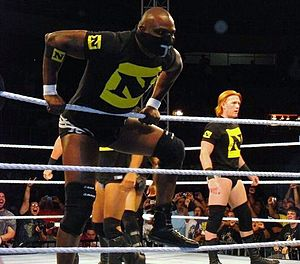 Michael Tarver - Tarver (left) with Heath Slater (right) at a house show in September 2010.