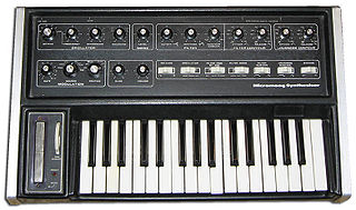 Micromoog monophonic analog synthesizer