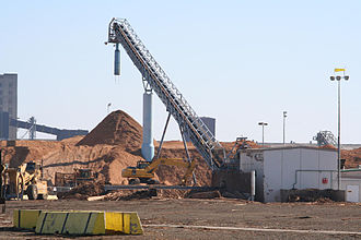 Port of Geelong - Woodchipping plant at North Shore