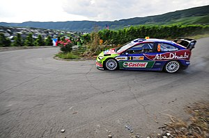 Ford Focus RS WRC - Mikko Hirvonen driving an RS WRC 08 in Germany.