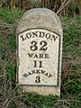 Milestone 32 on B1368 north of Hare Street.jpg