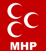 MHP flag designed after an Ottoman ensign